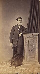 Marcos Esnats Gibraltar Protestantisme Royaume Uni Ancienne CDV Photo Autographe 1860