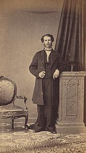 John Cuette Gibraltar Protestantisme Royaume Uni Ancienne CDV Photo Autographe 1860