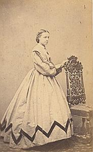 Edith Augusta Barker Protestantisme Royaume Uni Ancienne CDV Photo Autographe 1860