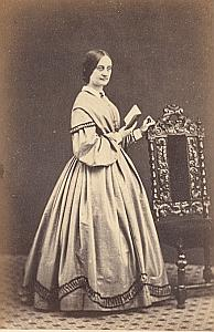 Charlotte Hornbuckle Hastings Protestantisme Royaume Uni Ancienne CDV Photo Autographe 1860