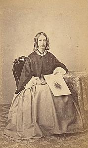 Juliana C. Yorke Protestantisme Pau Ancienne CDV Photo Autographe ca 1860