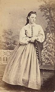 Fanny Colin Protestantisme Chaux de Fonds Ancienne CDV Photo Autographe 1860