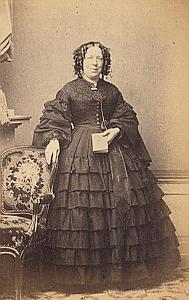 Baronne de Brakell Doorwerth Protestantisme Ancienne CDV Photo Autographe 1860