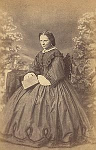 Baronne de Brakell Doorwerth Protestantisme Benelux Ancienne CDV Photo Autographe 1860