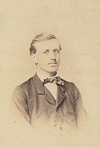Charles Bauty Protestantisme Stuttgart Ancienne CDV Photo Autographe 1860