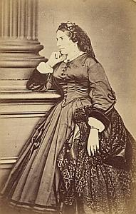 Baronne Mathilde Von Guaita Protestantisme Frankfurt Ancienne CDV Photo Autographe 1860