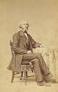 Pasteur Sauviry Protestantisme Frankfurt Ancienne CDV Photo Autographe 1860