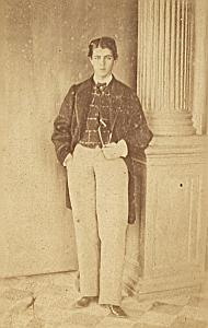 Virconde de Pancho Miranda Protestantisme Ancienne CDV Photo Autographe 1860