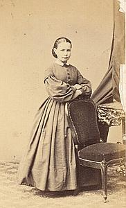 Elisa Domercq Protestantisme Pau Ancienne CDV Photo Autographe 1860