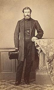 Pasteur Jules Leonard Buscarlet Protestantisme Pau Ancienne CDV Photo Autographe 1860