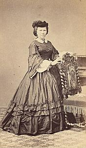 Madame S. Simonis Protestantisme Pau Ancienne CDV Photo Autographe 1860