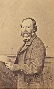 Henri Dorn de Neufchatel Protestantisme Pau Ancienne CDV Photo Autographe 1860