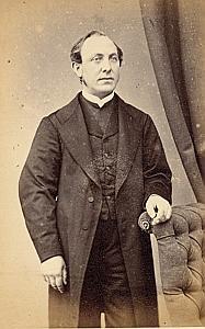 Pasteur Jules Achille Caron Protestantisme Saverdun Ancienne CDV Photo Autographe 1860