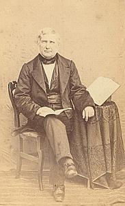 Pasteur Jousse Protestantisme Sainte Foy Ancienne CDV Photo 1860