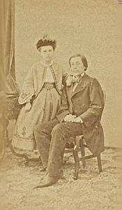 Marie & Albert Lefranc Protestantisme Bordeaux Ancienne CDV Photo 1860