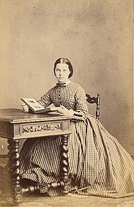 Mille Emma Faure Protestantisme Bordeaux Ancienne CDV Photo Autographe 1860
