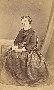 Madame Bersier Protestantisme Paris Ancienne CDV Photo ca 1860
