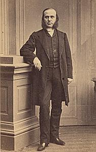 Pasteur Lucien Benoit Nimes Protestantisme Ancienne CDV Photo Autographe 1860