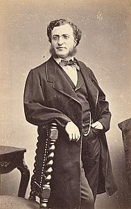 Pasteur Leonce Larnac Nimes Protestantisme Ancienne CDV Photo Autographe 1860