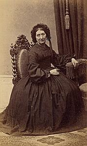 Madame Fargues de Montauban Protestantisme Ancienne CDV Photo Autographe 1860