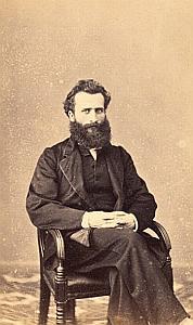 Pasteur Eugène le Savoureux Protestantisme Ancienne CDV Photo 1860