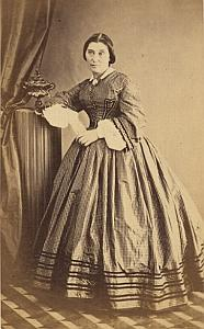 Madame E Weiss Marseille Protestantisme Ancienne CDV Photo Autographe 1860