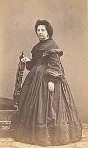 Madame Vernet Marseille Paris Protestantisme Ancienne CDV Photo Autographe 1860