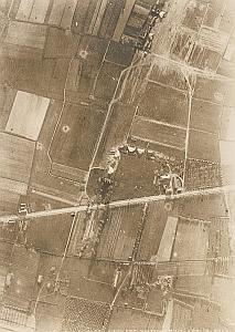 Airport Airplane WWI Military Aerial View Photo 1917