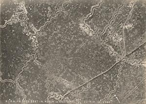 France Gauchy Trench WWI Military Aerial Photo 1917