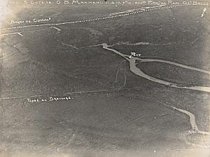 Romania Buzau River WWI Military Aerial Photo 1917