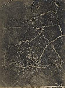 Pointe Pescade Trench WWI Military Aerial Photo 1917