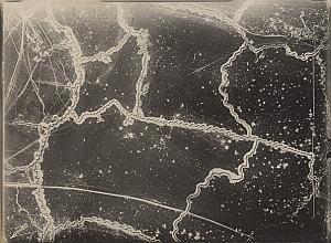 France Aisne Bonn Boyau WWI Military Aerial Photo 1917