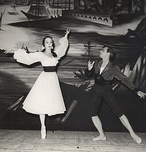Tallchief Skibine Dance Ballet Old Lipnitzki Photo 1955