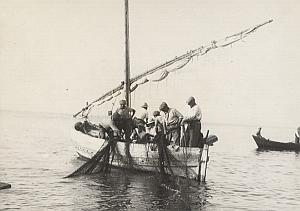 Breton Fishermen Boat WWII France Old Photo 1941