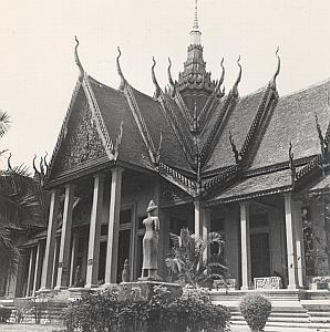 Cambodia Albert Sarraut Museum Facade Phnom Penh Old Photo 1950