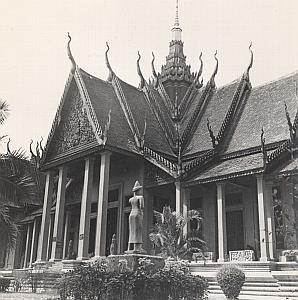 Cambodia Albert Sarraut Museum Facade Phnom Penh Old Photo 1950