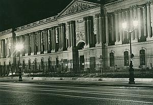Tuileries by Night Paris France Old Photo 1965