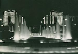 Palais de Chaillot Paris by Night France Old Photo 1965