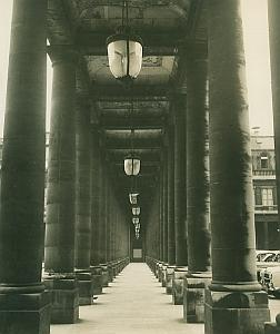 Palais Royal Colonnade Paris France Old Photo 1965