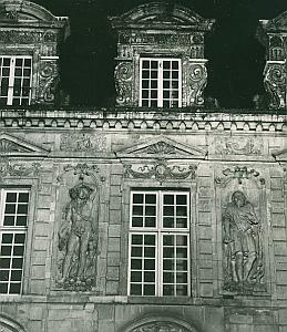 Hotel De Sully Facade Paris France Old Photo 1965