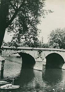 Pont Marie Bridge Seine Paris France Old Photo 1965