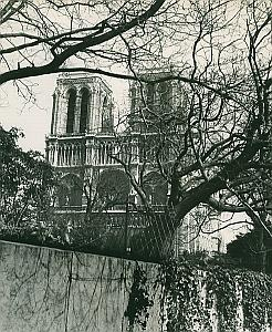 Eglise Notre Dame de Paris France Old Photo 1965