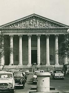 Eglise de la Madeleine Paris France Old Photo 1965