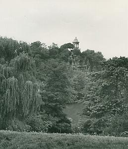 Buttes-Chaumont Garden Park Paris France Old Photo 1965