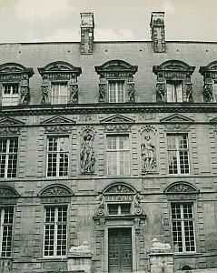 Hotel de Sully Paris France Old Photo 1965