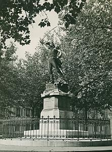 Marechal Ney Statue Paris France Old Photo 1965