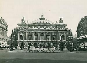 Opera Garnier Pigeons Paris France Old Photo 1965