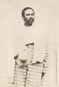 Portrait Man Hova Madagascar Old Diez Photo 1924