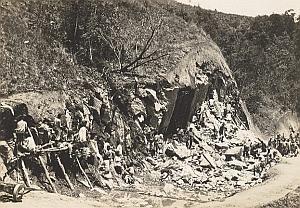 Road Construction Worker Madagascar Old Diez Photo 1924