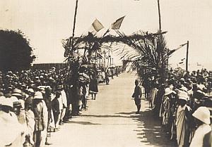 Morombe Harbour Ceremony Madagascar Old Diez Photo 1924